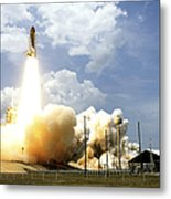 Space Shuttle Atlantis Lifts Metal Print