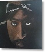 2pac In Colour Metal Print