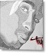 2pac Text Picture Metal Print
