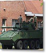 A Belgian Army Piranha IIic Metal Print