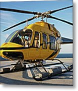 A Bell 407 Utility Helicopter Metal Print