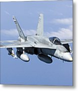 A Cf-188a Hornet Of The Royal Canadian Metal Print