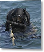 A Navy Seal Combat Swimmer Metal Print by Michael Wood