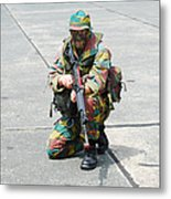 A Paratrooper Of The Belgian Army Metal Print