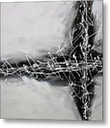 Abstract Black  Metal Print