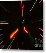 Abstract Motion Lights Metal Print