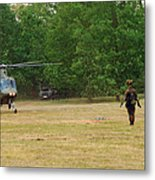 An Agusta A109 Helicopter Metal Print by Luc De Jaeger