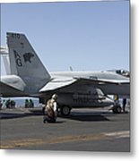 An Fa-18c Hornet During Flight Metal Print
