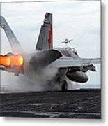 An Fa-18c Hornet Launches Metal Print by Stocktrek Images