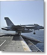 An Fa-18e Super Hornet Launches Metal Print by Stocktrek Images