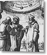 Aristotle, Ptolemy And Copernicus Metal Print by Science Source