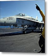 Aviation Boatswains Mate Directs Metal Print