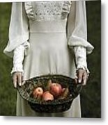 Basket With Fruits Metal Print