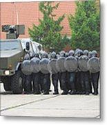 Belgian Infantry Soldiers Training Metal Print by Luc De Jaeger