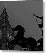 Big Ben And Boudica Statue Metal Print