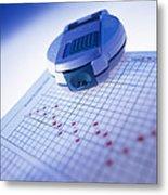 Blood Glucose Tester Metal Print by Steve Horrell