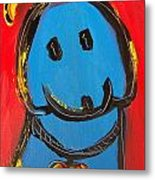 Blue Dog Metal Print
