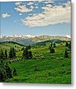 Bridger Mountain View Metal Print