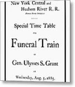 Burial Of Ulysses S. Grant Metal Print