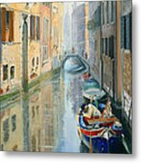 Canals Of Venice  Metal Print