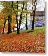 Castle In Autumn Metal Print