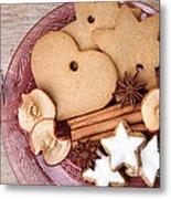 Christmas Gingerbread Metal Print