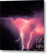 Cloud-to-ground Lightning Metal Print