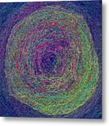 Color Sand Metal Print