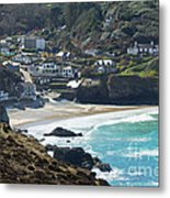 Cornish Seascape St Agnes  Metal Print