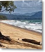 Deserted Beach In Phuket In Thailand Metal Print by Zoe Ferrie