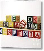 Dyslexia Metal Print