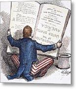 Election Cartoon, 1876 Metal Print