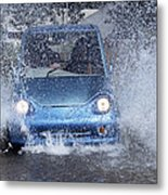 Electric Car Metal Print