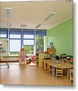 Empty Estonian Elementary Grade School Metal Print by Jaak Nilson