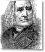 Franz Liszt (1811-1886) Metal Print