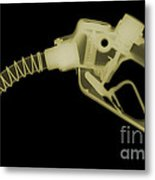 Gas Nozzle, X-ray Metal Print