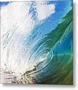 Glassy Breaking Wave Metal Print