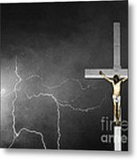 Good Friday - Crucifixion Of Jesus Bw Metal Print