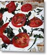Grilled Pizza Metal Print