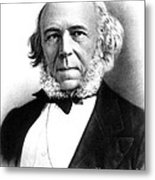 Herbert Spencer, English Polymath Metal Print by Science Source