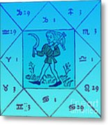 Horoscope Types, Engel, 1488 Metal Print