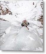 Ice Climber Metal Print