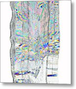 Icicle Cross Section Metal Print