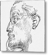 James Joyce (1882-1941) Metal Print