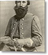 Jeb Stuart, Confederate General Metal Print