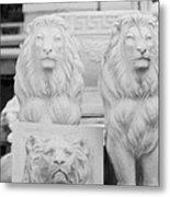 3 Lions Metal Print