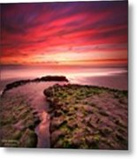 Long Exposure Sunset At A North San Metal Print