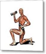 Male Muscles, Artwork Metal Print