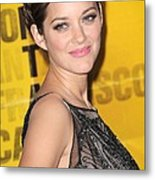 Marion Cotillard At Arrivals Metal Print by Everett