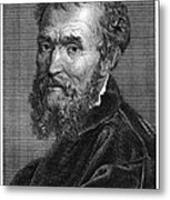 Michelangelo (1475-1564) Metal Print by Granger
